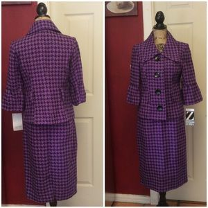 Nwt Zoda houndstooth Skirt Suit
